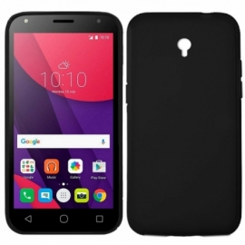 Capa Silicone Cool Alcatel Pixi 4 (5) 4G / Smart 7 Turbo (Preto)