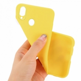 Capa Silicone Cool Huawei P Smart (2019) / Honor 10 Lite Amarelo