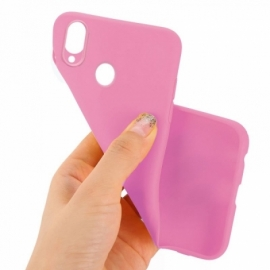 Capa Silicone Cool Huawei P Smart (2019) / Honor 10 Lite Rosa