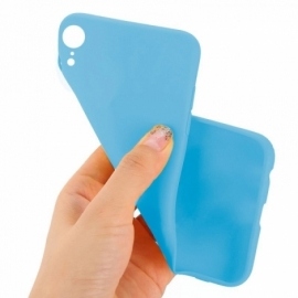 Capa Silicone Cool iPhone XR (Celeste)