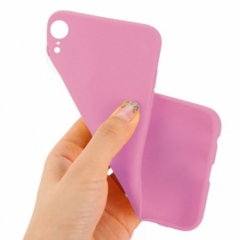Capa Silicone Cool iPhone XR (Rosa)
