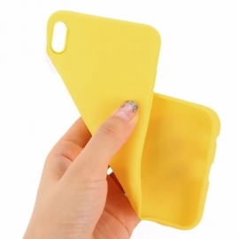 Capa Silicone Cool iPhone XS Max (Amarillo)