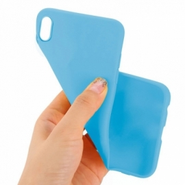 Capa Silicone Cool iPhone XS Max (Celeste)