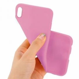 Capa Silicone Cool iPhone XS Max (Rosa)