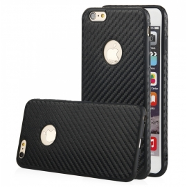 Capa de Gel Carbon Para iPhone 8 Plus - Preto