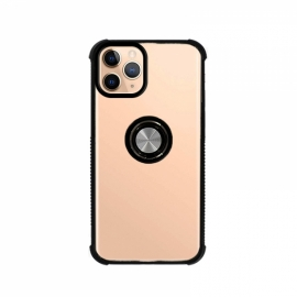 Capa Anti Choque Anel + Iman Para Apple iPhone 11 Pro Max - Transparente / Preto