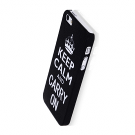 Capa Rigida Keep Calm And Carry On para iPhone 5 / 5S / SE - Desenhos