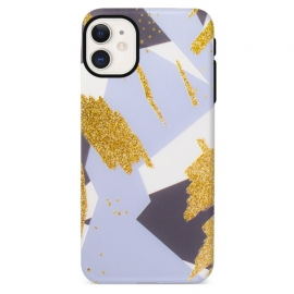 Capa de Gel com Manchas de Purpurina Para Apple iPhone 12