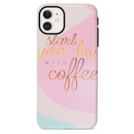 Capa de Gel Coffee Rosa Para Apple iPhone 12