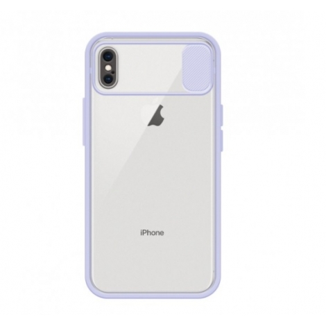 Capa com Tampa Deslizante pra Camera Para Apple iPhone Xs Max