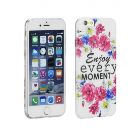 "Capa Gel ""Enjoy Every Moment"" Para iPhone 8 - Desenhos"
