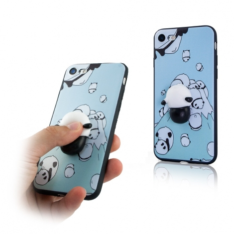 Capa Gel com Panda (Squishy) Para iPhone 6 / 6S