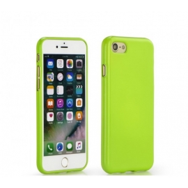 Capa de Gel Com Cor Para iPhone 7 - Verde